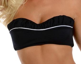 Vanna Removable Halter Bikini Top in Black