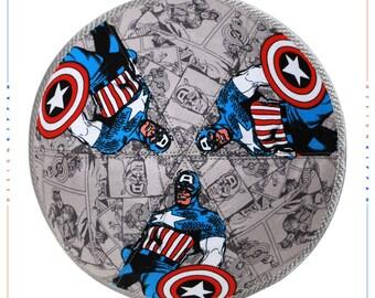 Captain America kippah yarmulke yamaka kippa. Jewish wedding - Bar Mitzvah - Shabbat.