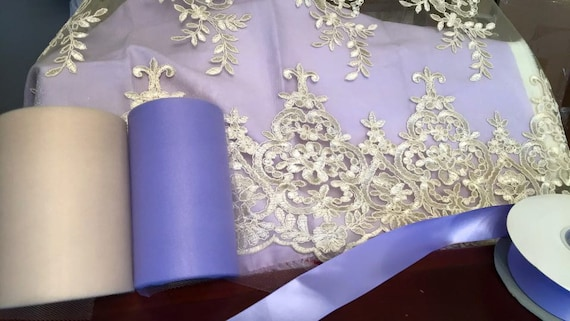 Custom Listing for MaryAnn Fields Lavender and Champagne Dress with Large Floral Clip in matching colors