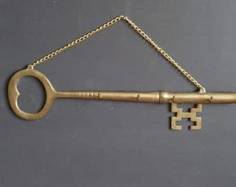 Brass Key Key Rack Wall Hanging 4 Hooks Key Hanger/Holder