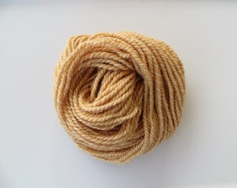 Natural dyed Yarn with Madder Root and Golden Rod, Merino and Alpaca Yarn, Hand Spun Yarn, Bulky Yarn 2 ply 5.5 oz