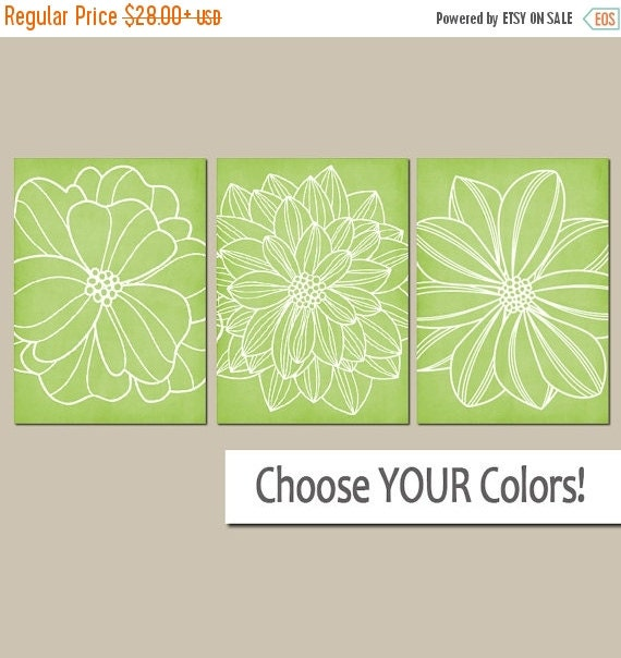 Lime green wall art canvas or prints lime green by trmdesign for Lime green wall art