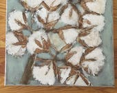 cotton bunches - Acrylic on Canvas Painting 12x12