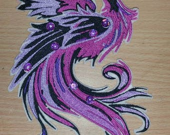 Stunning Sequined Dragon  Embroidered  Iron/Sew/Glue On Patch