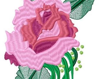 Rambling Rose Medium Machine Embroidery Design by Letzrock  3104