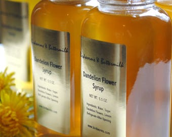 Wildcrafted Dandelion Flower Syrup