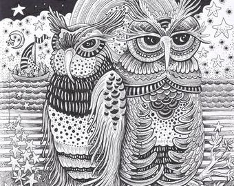 "Starry Evening Tide - 8 x 10"" Art Print"