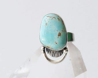 Patina Ring - Turquoise and Sterling Silver Ring