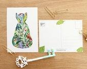 Botanist Cat postcards - set of 4