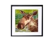 Moose archival prints Moose illustration Watercolor Prints Animal art Woodlands painting Child's playroom decor Wall art nursery