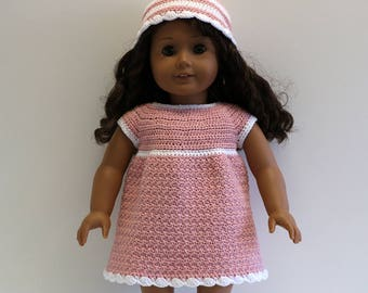 """Instant Download - 18"""" Doll Pattern 3 - Pretty Dress and Hat"""