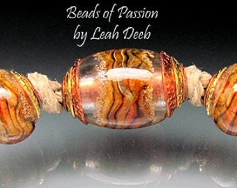 BHB Glass Beads of Passion Leah Deeb - 5pc Rich Big Hole Double Capped Set