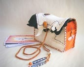 leather tarot bag >> OPEN YOUR MIND <<< medicine bag, white deerskin leather, shaman shamanic bag, oracle cards, fortune teller, palm reader