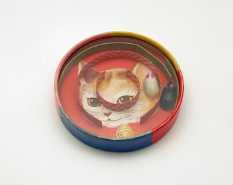 Vintage Toy Maze Game Cat and Mouse