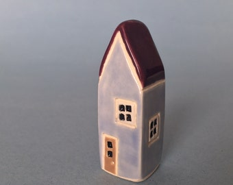 Little Ceramic House Miniature Clay House