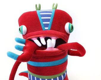 """Plush Big Monster """"Sofia"""" Cotton Monster with Pocket Mouth"""