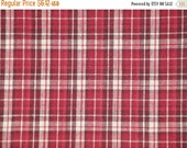 Black Friday Homespun Material | Cotton Material | Primitive Material | Wine, Red And Cream Plaid Material | 32 x 44