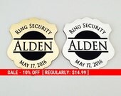 Ring Security, Ring Bearer Gift, Ring Bearer Security Badge, Personalized Ring Bearer Badge, Groomsmen Gifts, Wedding Gift