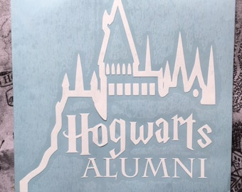 Harry Potter Inspired Hogwarts Alumni Car, Laptop, or Decor Vinyl Decal