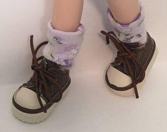 Short Lavender Spring Time Flower Socks  For Blythe...