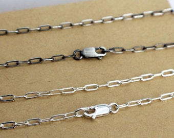 "Sterling Silver Necklace 22"" Drawn Cable Chain"