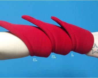 LS-S. Short Spiky Puff Cuff. Futuristic Bracelet.