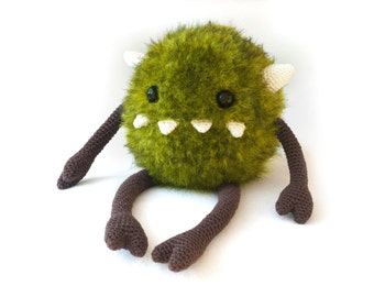 Harry the monster Amigurumi crochet pattern PDF