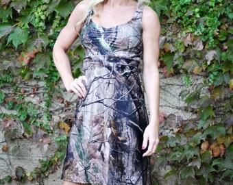 Camo Dress -Camouflage Dress - Camo Sundress  - Camo Women - Camo Wedding - Camo Bridesmaid Dress - Camo Wedding Dress - MADE IN USA