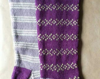 Holiday Christmas Knit Stockings Ready to Ship