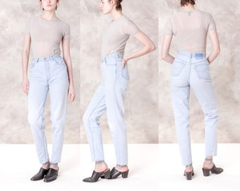 HIGH waist LEVI jeans 90S denim DISTRESSED vintage small Women bleached ripped frayed / Size 4 5 / 26 27 waist / better Stay together