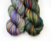 Wind Song Shawl Kit! Zeppelin and St. Graffiti--hand dyed sock yarn, merino and nylon, (463yds/100gm)