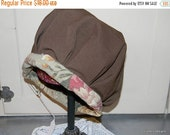 Holiday Sale Vintage Fabric Balmoral Bonnet Style Hat