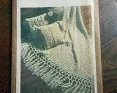 Vintage Simplicity Crochet Afghan and Pillow Pattern #9510