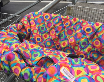 Shopping Cart cover  for boy or girl...... Bright Geometric Circles  Michealmooodesign