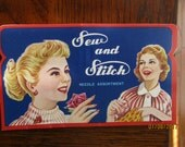 "Vintage Needle Packet ""Sew and Stitch"""