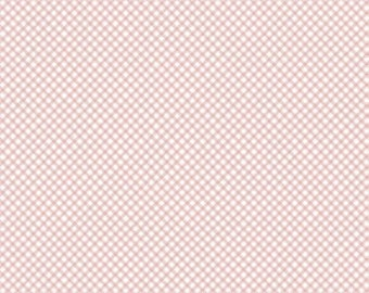 Bunnies and Cream, By Lauren Nash Bunnies Gingham Pink C6025-Pink