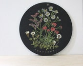 RESERVED for STELLA  Sea Shore Flowers. Vintage wall plaque or wall hanging.