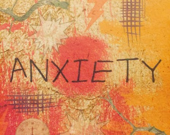 ANXIETY - Papers of Intention - handmade paper art full of intentions - to be burned or buried with attached prayer