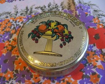 vintage pastillines tin