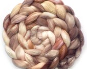 Roving Organic Polwarth and Bombyx Silk Handdyed Combed Top - Peaceful, 5.2 oz.