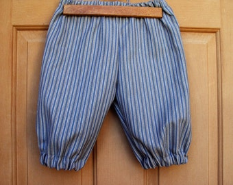 teal stripe knickers, golf knickers, Newsies knickers, pirate knickers, child size 6