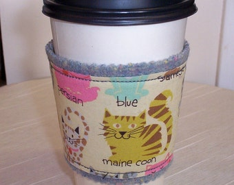 Cat Cup Cozy With Wool Lining