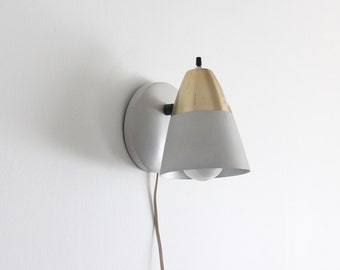 Gold & White Mid Century Wall Sconce