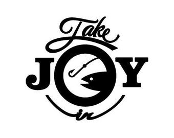 Take Joy In Fishing Decal