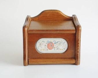 Julie Pomerantz Goodwood  Geese  Wood Recipe Card  Box