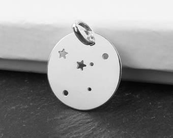 Sterling Silver Cancer Constellation Pendant 18mm (CG9614)