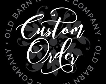 Custom Order DESIGN FEE  - see description for additional information***
