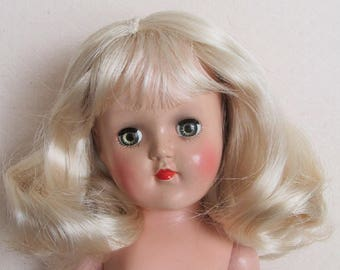 """Beautiful P-90 Ideal 14"""" Toni Doll With Replaced Blonde Wig"""