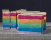 Black Raspberry Vanilla | Rainbow Soap | Natural Handmade Soap | Scented Soap | Fatty's Soap Co.