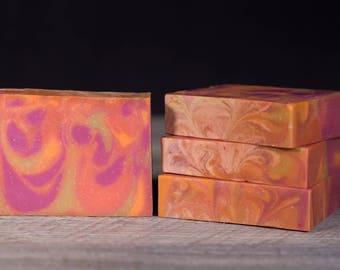 Pink Lemonade | Cold Process Handmade Soap | Neon Colors | Fatty's Soap Co.
